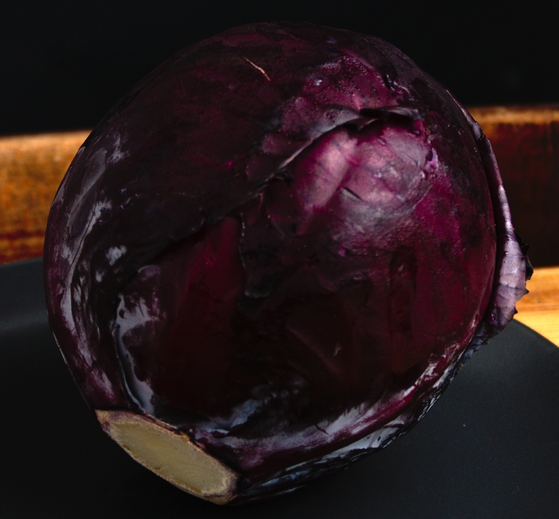 Red Cabbage on dark background